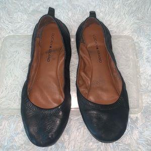 Lucky Black Ballet Flats